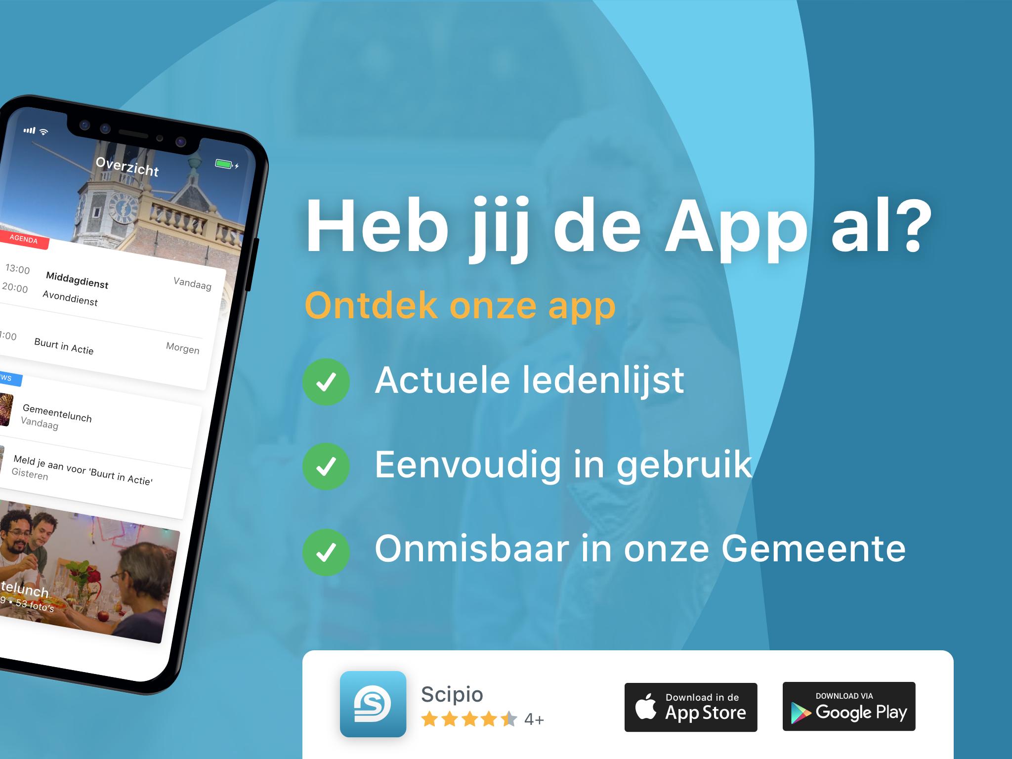 scipio app beamer leden
