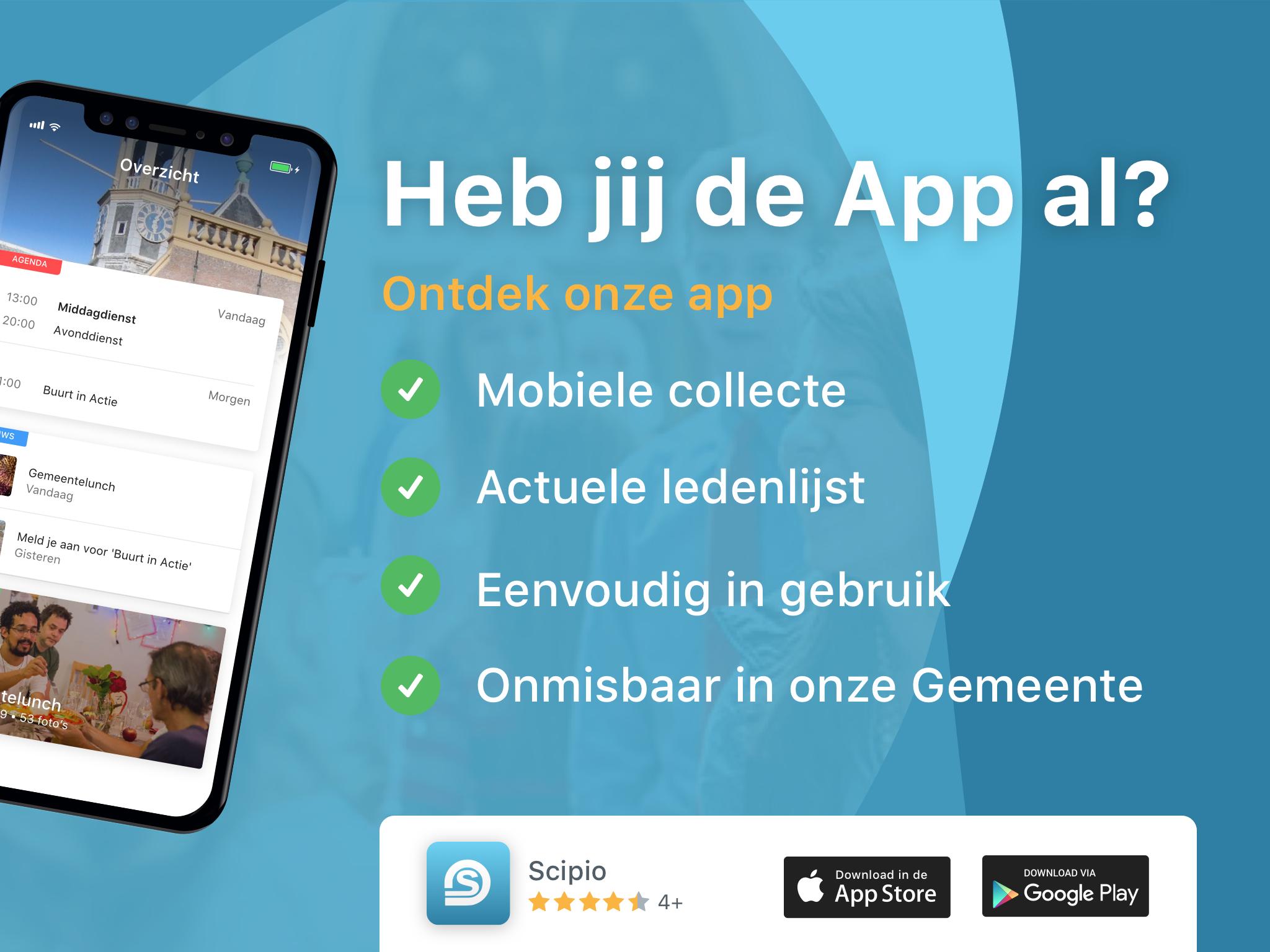 scipio app beamer leden collecte